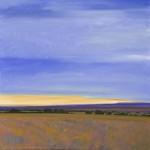 "Morning Santa Fe, 36"" x 36"", oil on canvas"