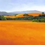 """Ricki's Pasture, 48"""" x 48"""", oil on canvas"""