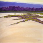 """River and Sand Dune, 12"""" x 12"""", oil on canvas"""