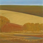 "Sonoma Hill Barn, 24"" x 24"", oil on canvas"