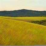 "Springtime View, 24"" x 24"", oil on canvas"