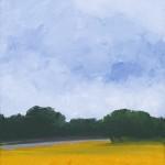 """Sunday Stream, 12"""" x 12"""", oil on canvas"""