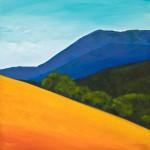 West of Mt Diablo, 20″ x 20″, oil on canvas